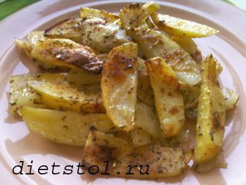 пряный  картофель Cajun  фото