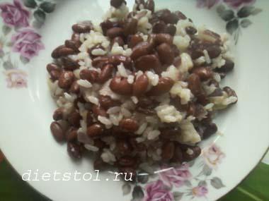 рис с фасолью фото