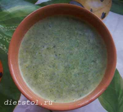 суп -пюре из шпината фото