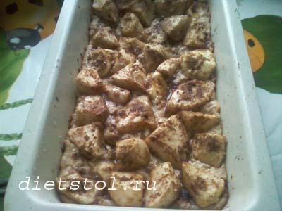 творожно-яблочный пирог фото