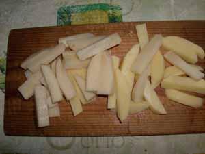 картофель для постного супа из чечевицы