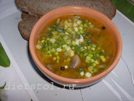 суп из чечевицы постный с грибами
