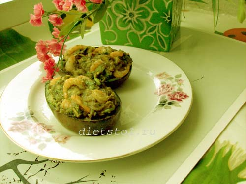 авокадо с креветками фото рецепт