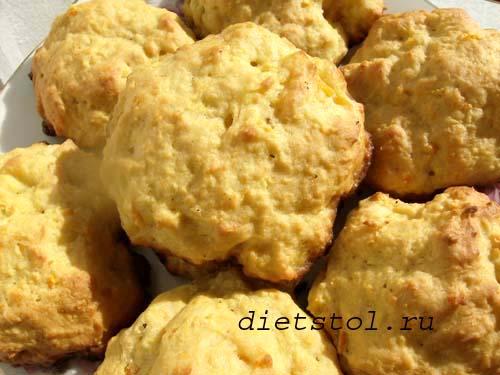 постное апельсиновое печенье фото