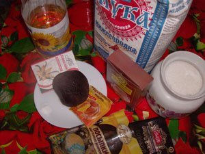 продукты для постного шоколадного торта фото