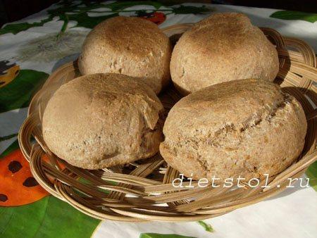 хлеб без дрожжей с отрубями фото