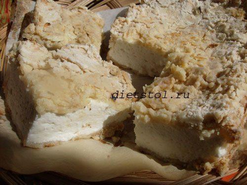 деревенский пирог с творожной начинкой фото