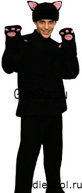 костюм кота на Хэллоуин фото