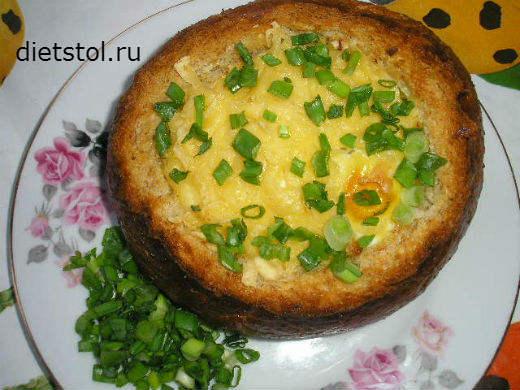 яйцо в булочке в духовке рецепт с фото