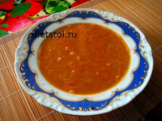 рецепт из красной чечевицы, вкусный суп с капустой