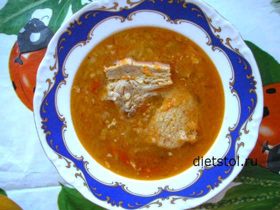 суп из свинины с рисом, суп харчо рецепт с фото