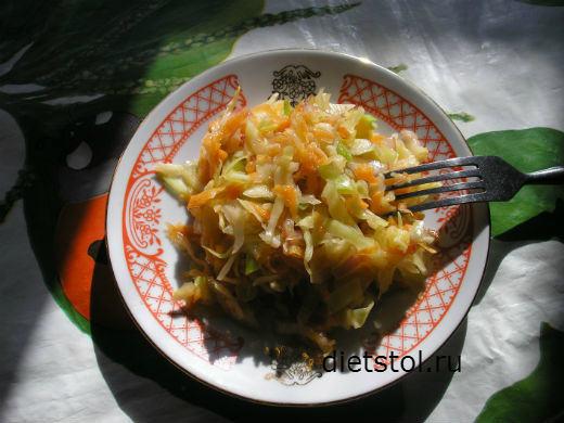 салат из капусты с морковью и уксусом фото