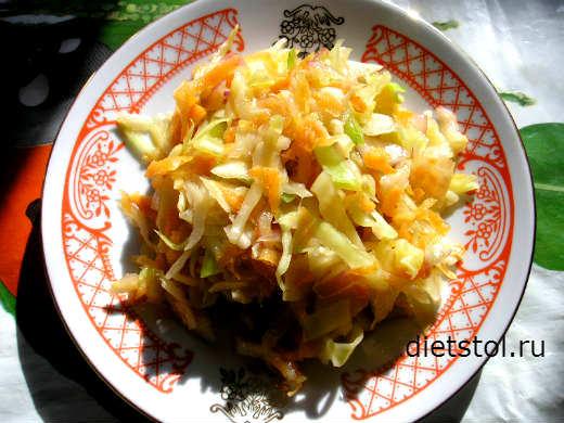 салат капуста морковь уксус масло фото