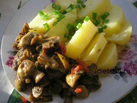 маринованные грибы шампиньоны быстро, вкусная грибная закуска фото