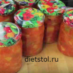 лечо из кабачков помидор и перца - рецепт и фото