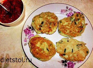 оладьи из кабачков с зеленью - рецепт и фото