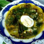 суп из морской капусты с яйцом - состав и приготовление