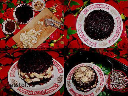 новогодний салат - рецепт с фото
