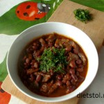 fasol' s gribami - recipe