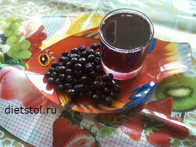 компот из черноплодной рябины - заготовка на зиму