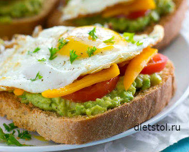 тосты с авокадо и яйцом рецепт и фото