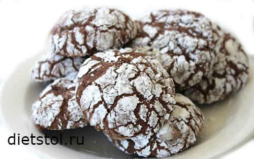 шоколадное печенье быстро