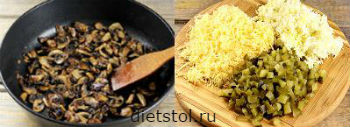 салат петух приготовление