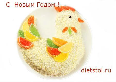 торт петух