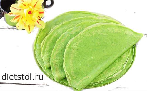 зеленые блины со шпинатом - фото