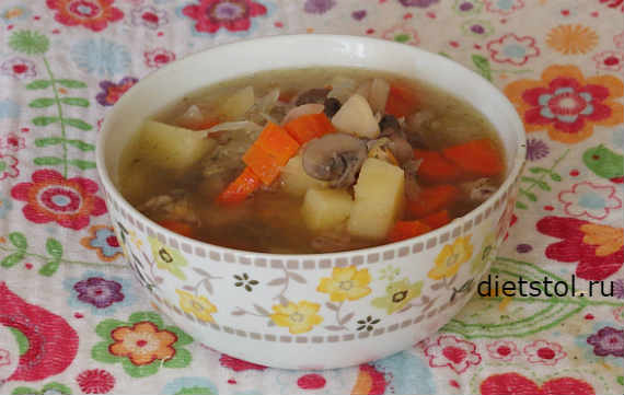 Быстрый рецепт грибного супа