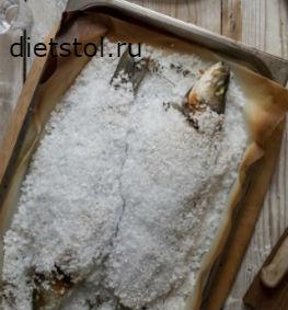 Дорадо в соли в духовке фото