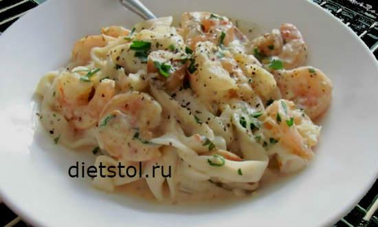 Креветки в сливочно чесночном соусе рецепт и фото