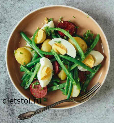 Салат с чоризо рецепт