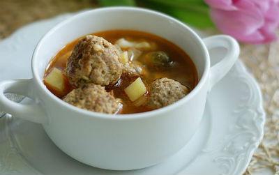 простой рецепт супа с фрикадельками
