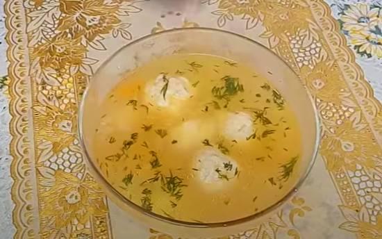 Вкусный суп с рыбными фрикадельками рецепт