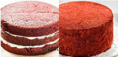 торт Красный бархат: сборка