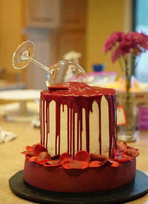 торт Красный бархат 1