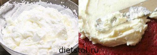 торт красный бархат: делаем крем