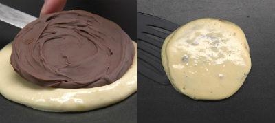 Панкейки с шоколадной начинкой рецепт