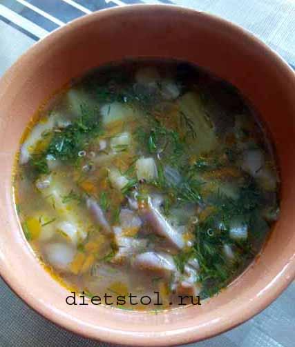 Грибной суп с киноа