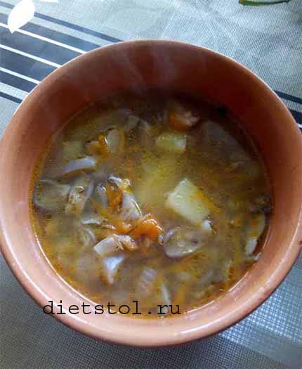 Грибной суп с крупой киноа
