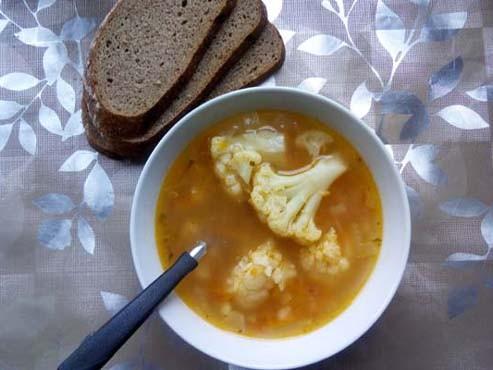Суп с булгуром и цветной капустой